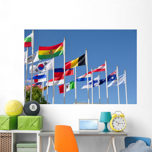 National Flags of the World Wall Mural