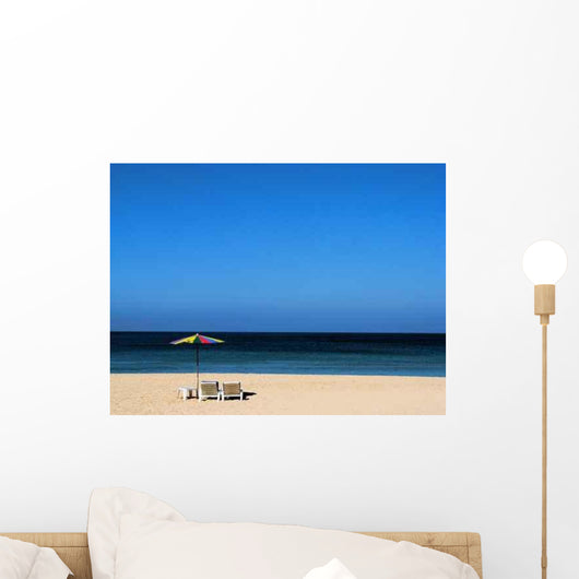 Beach Loungers Overlooking Ocean Wall Decal