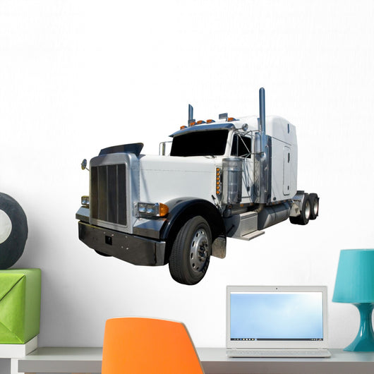 White Semi Isolated Wall Decal