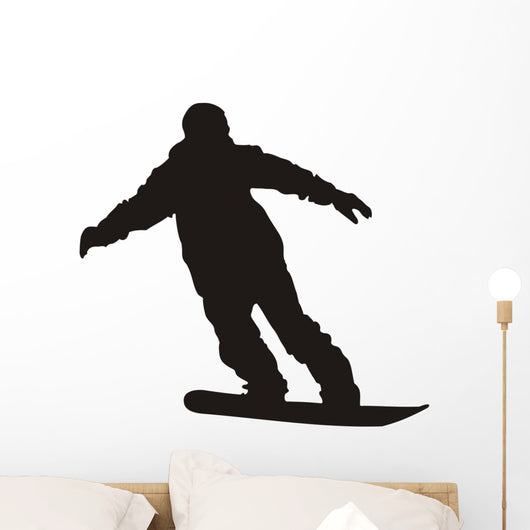 Snowboarder Silhouette Wall Decal
