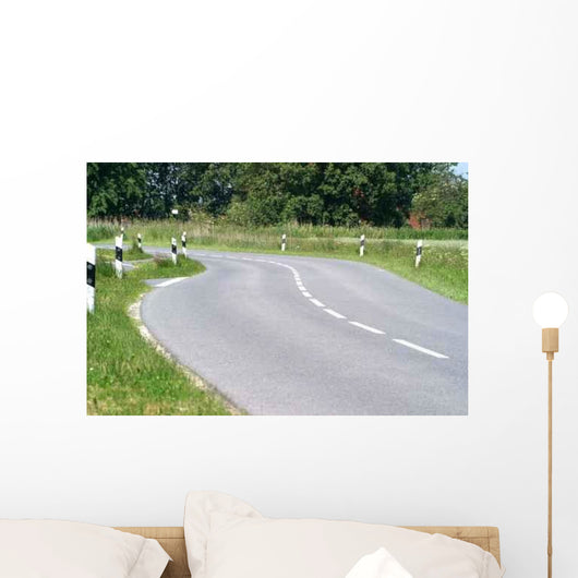Kurvenreiche Strasse Wall Decal