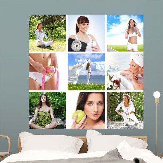 Spa and Health Collages Wall Mural