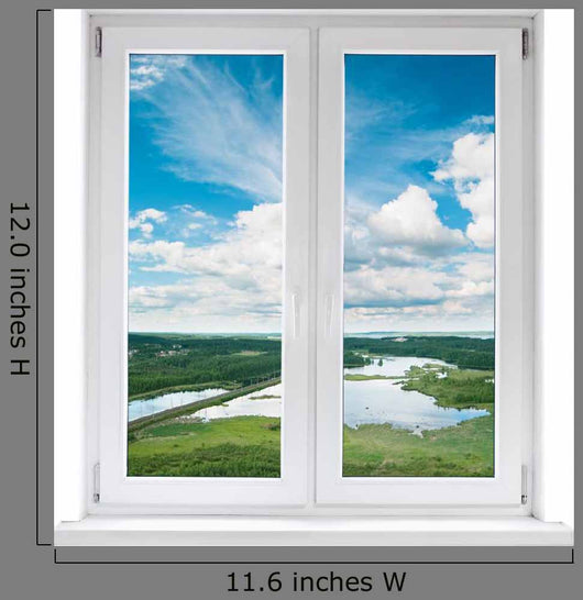 White Plastic Double Door Windowwall Decal Wall Decal
