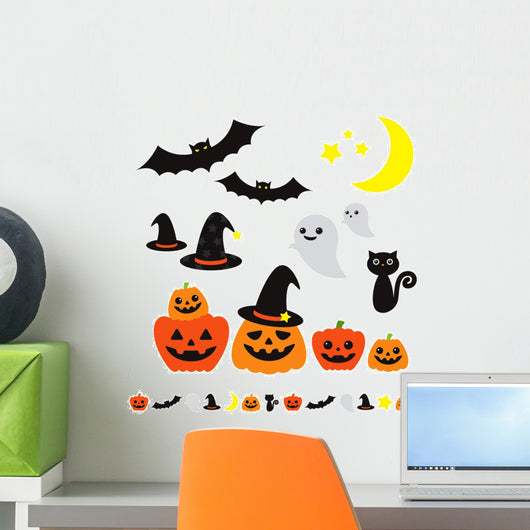 Halloween Wall Decal Sticker Set