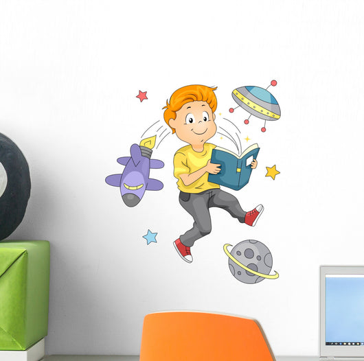 Space Book Wall Decal