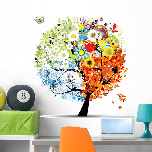 Four Seasons Tree Wall Decal
