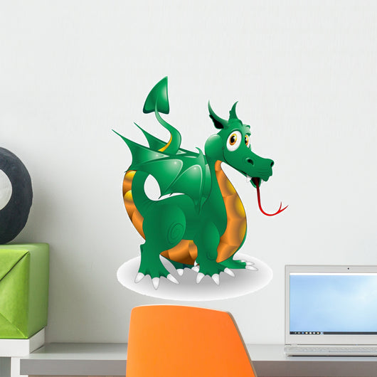 Dragon Cartoon Puppy-Baby-Dragon Vector Wall Decal