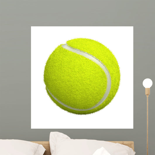Tennis Ball White 3D Wall Decal
