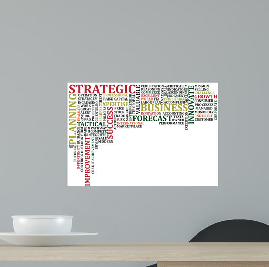 Business Words Collage Wall Decal