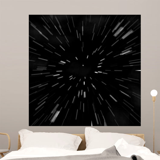 Hyperspace Starfield Zoom Blur Wall Decal