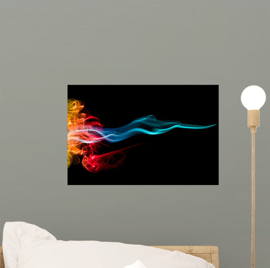 Fire and Ice Flames Wall Mural