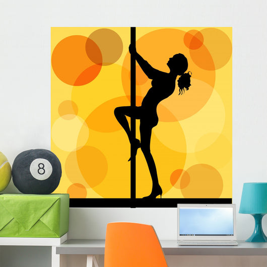 Pole Dancer Wall Decal