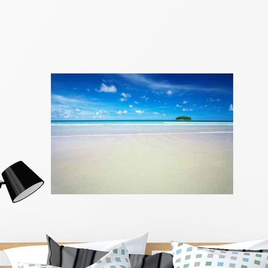 Distant Tropical Island Wall Decal