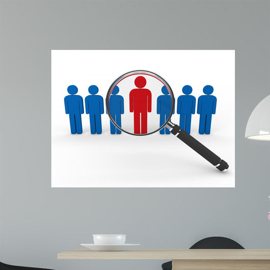 magnifying glass team Wall Decal