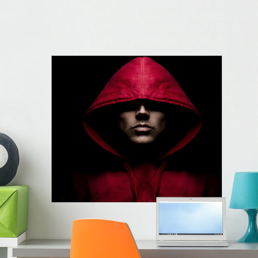 Red Hooded Male Wall Mural