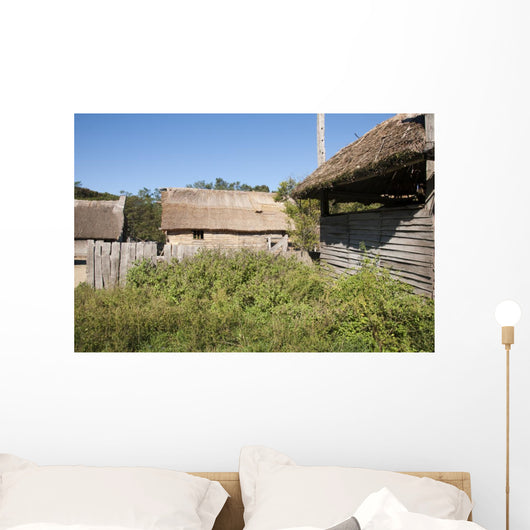 The Plimoth Plantation Museum in Plymouth Massachusetts Wall Mural