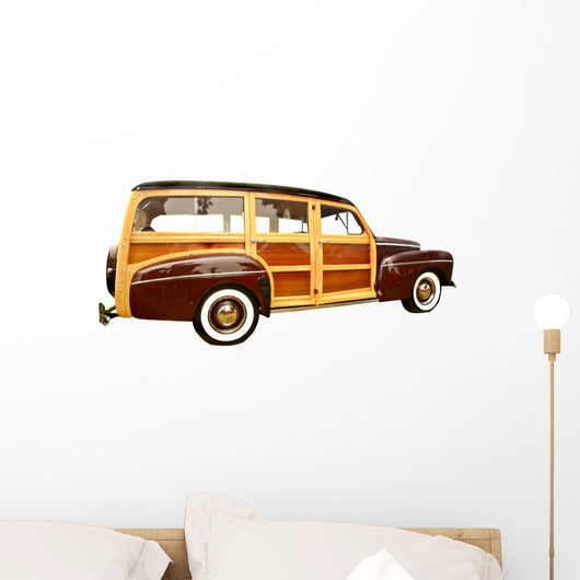 40s Era Woody Station Wagon Wall Decal