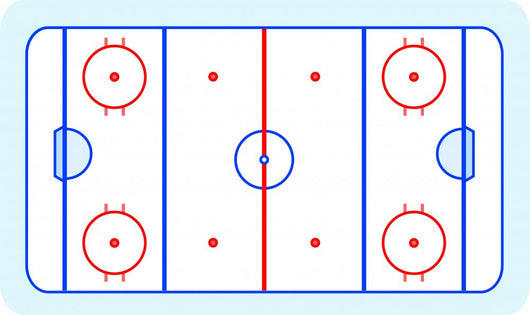 Ice Hockey Field Wall Decal