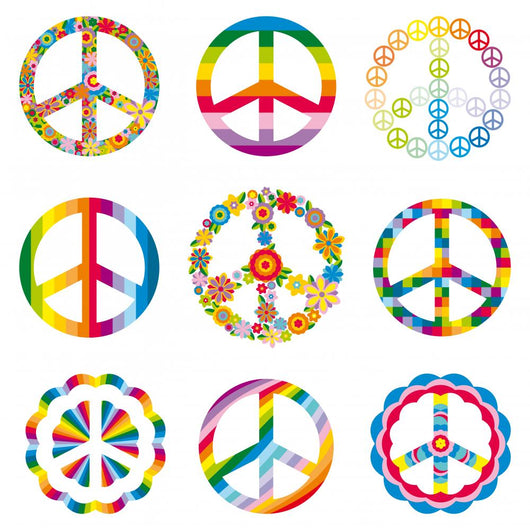 Rainbow Peace Symbols Wall Stickers Wall Decal