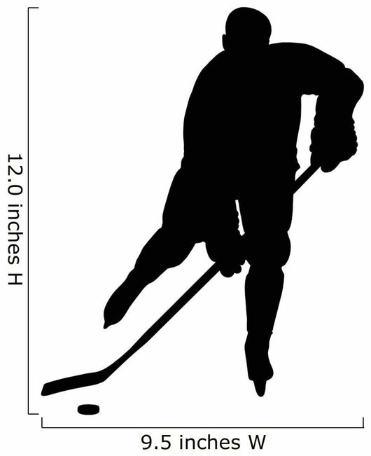 Hockey Player Silhouette Wall Decal