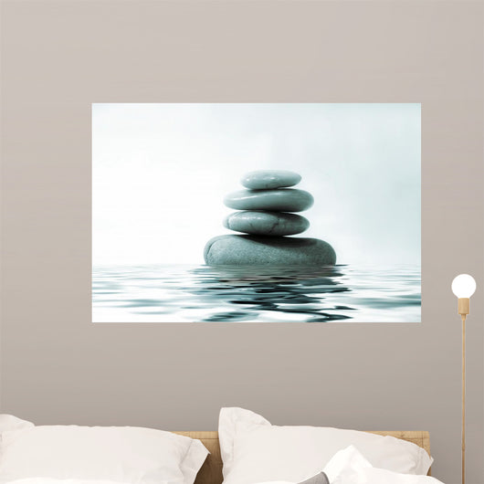 Rocks on Water Wall Mural