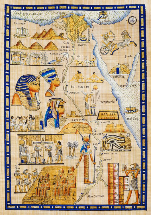 Antique Egypt Map Drawn