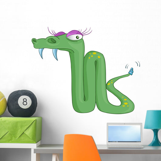 Cartoon Character Snake Wall Decal
