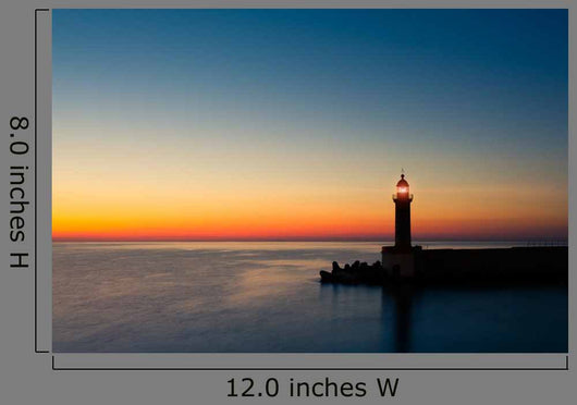 dusk lighthouse Wall Mural