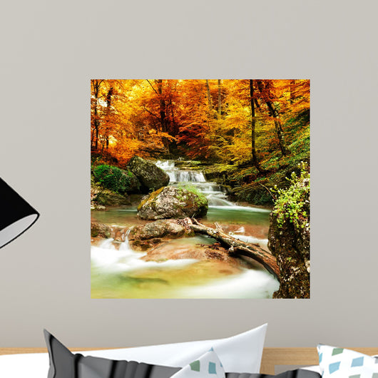 Autumn Creek Woods with Wall Decal