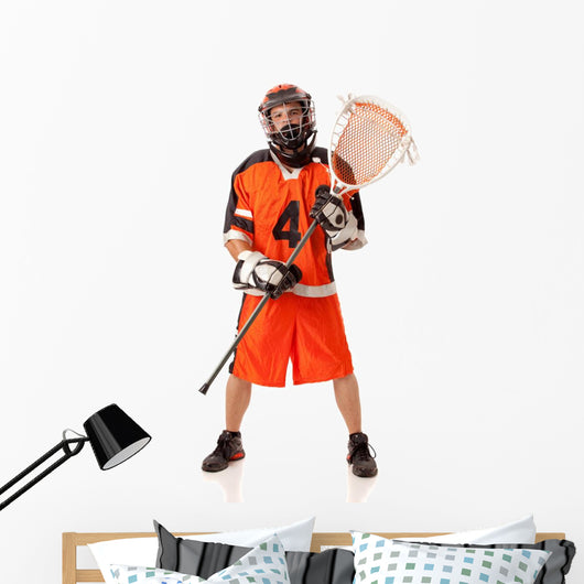 Lacrosse Player Wall Decal