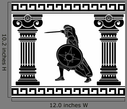 Black Mythological Warrior Wall Decal