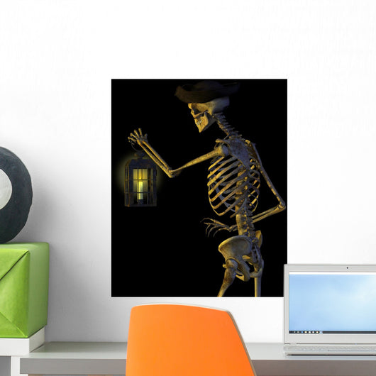 Skeleton Pirate with Lantern Wall Mural