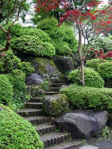 Japanese Garden Steps in Tokyo Wall Decal