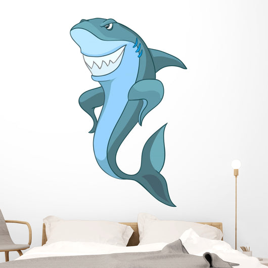 Cartoon Character Shark Wall Decal