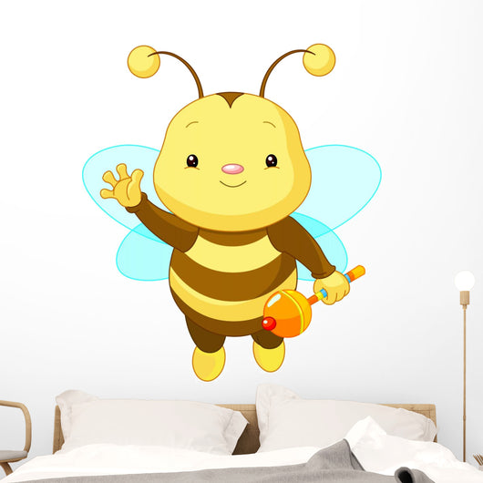 Cute Baby Bee Wall Decal