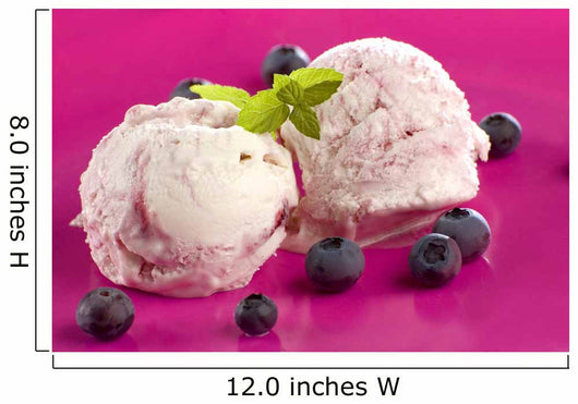 Yogurt Blueberry Ice Cream Wall Mural