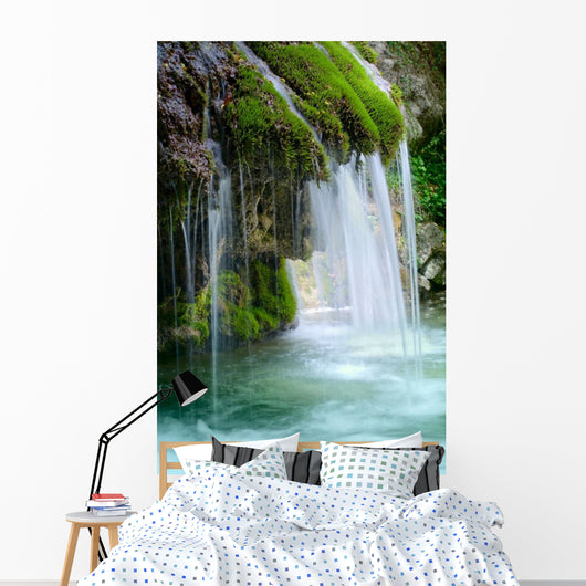 Beautiful Waterfall Forest Spring Wall Decal