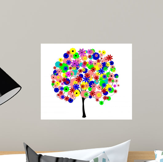 Colourful Tree Wall Decal