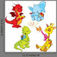 Cartoon Animals Small Schooler Wall Stickers
