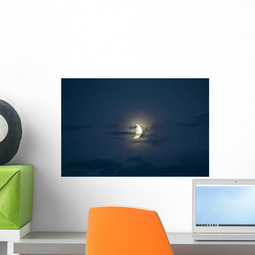 Beautiful Half Moon Wall Decal Wallmonkeys Com