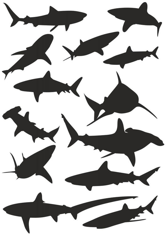 Various Sharks Wall Stickers Wall Decal