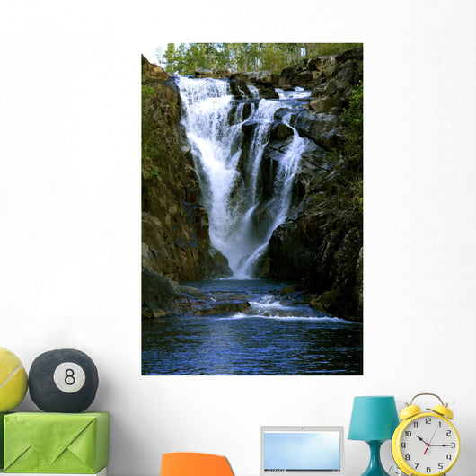 Big Rock Waterfall Wall Decal