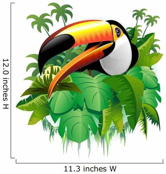Toucan Toucan Tropical Vegetation-on-Vector Tropical Plants Wall Decal