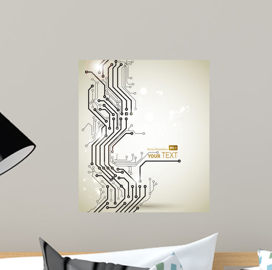Abstract Modern Digital Technologies Wall Decal