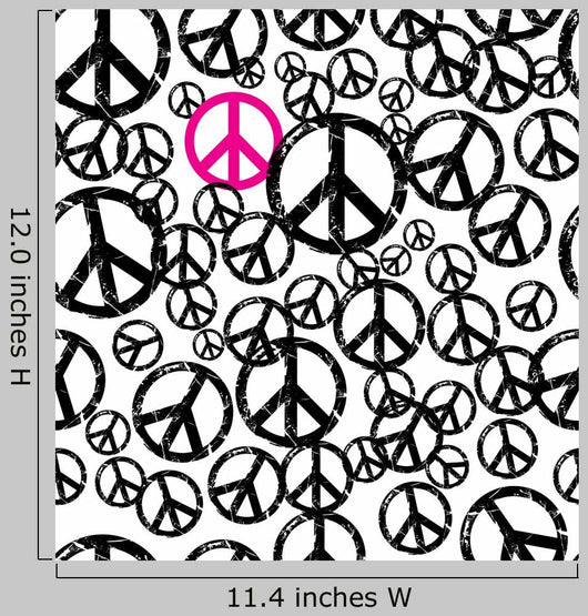Seamless Hippie Peace Wall Mural