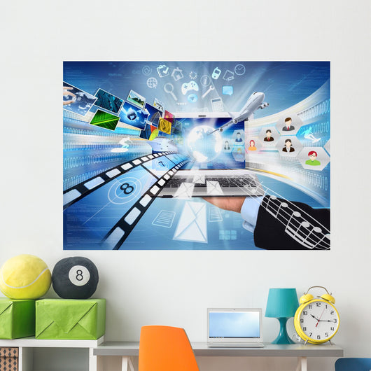 Laptop For Internet Wall Decal