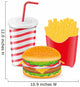 Cheeseburger, Fries, And Drink Wall Decal