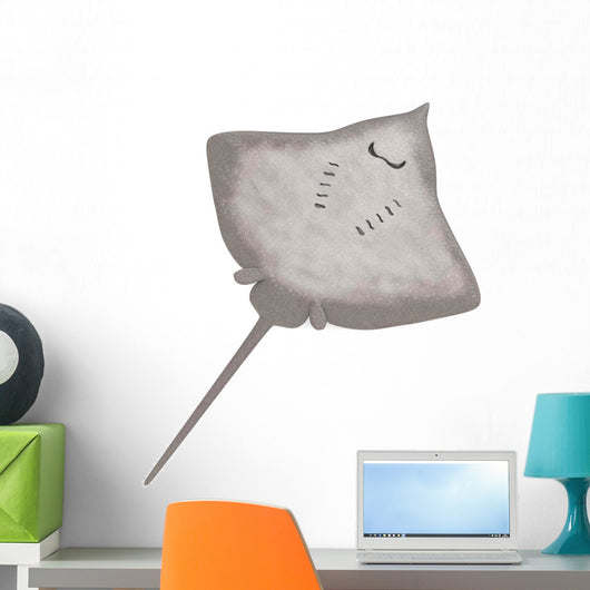 3D Render Stingray Animal Wall Decal