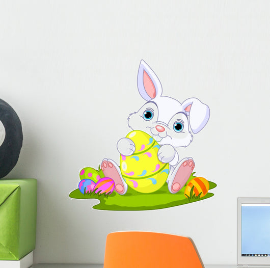 Easter Bunny with Easter Wall Decal