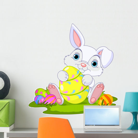 Easter. Bunny with Easter Egg Wall Decal